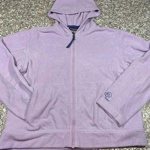 Lavender Patagonia fleece zipper jacket size lg